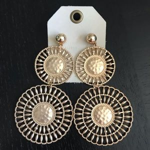 Anthropologie Jewelry - NWT Anthropologie Golden Drop Earrings